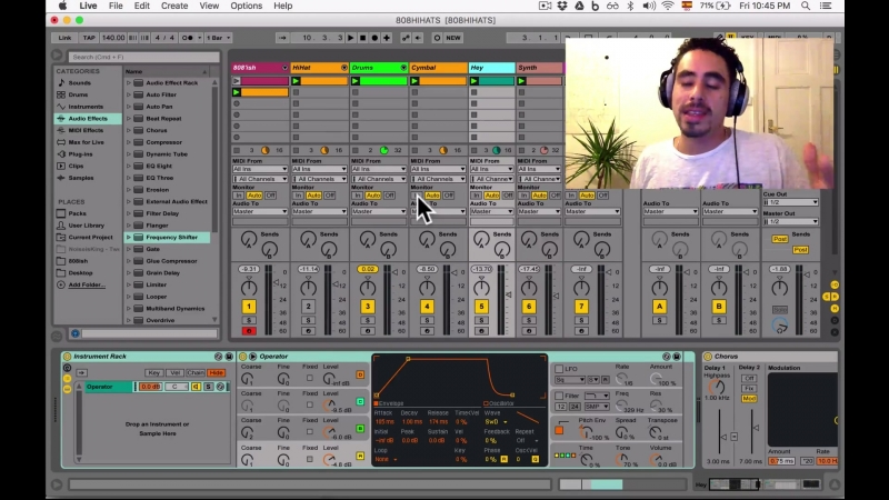 Create an TR-808 type of Hihat with Ableton Lives Operator