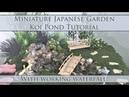 Miniature Japanese Garden Koi Pond Tutorial (waterfall works!) | Dollhouse | How to 1:24 Scale DIY