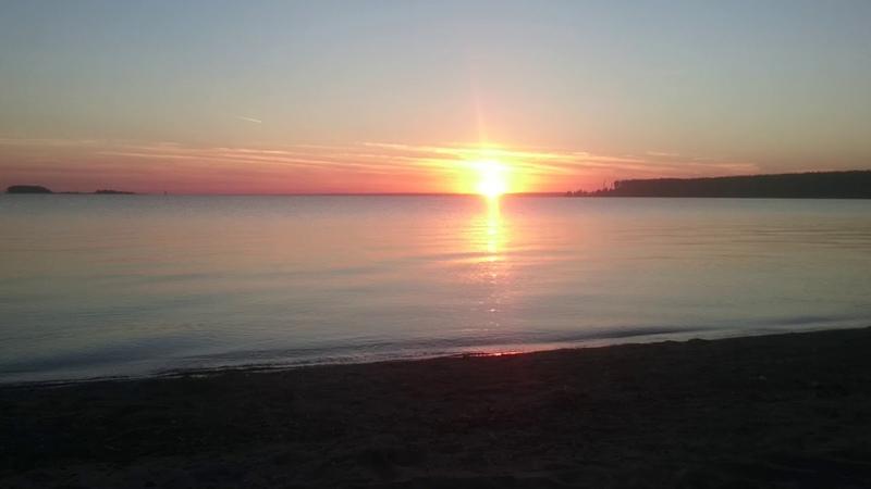 Обское море,встречаем закат 🌆.