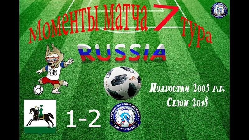 Момент матча СШ Клин 1-2 ФСК Долгопрудный 2005