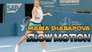 Maria Sharapova SLOW MOTION Backhand Forehand Serve 2017 HD