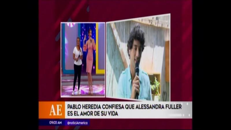 Pablo Heredia confiesa que Alessandra Fuller es el amor de su vida