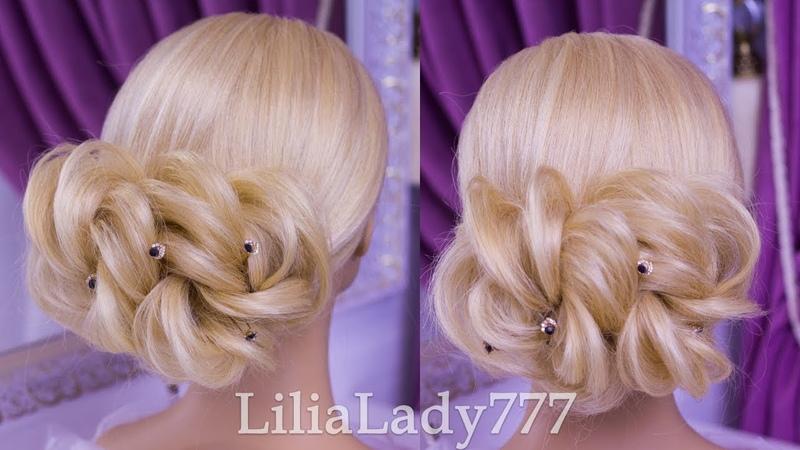 Прически.Красивая прическа из узлов. Beautiful Hairstyles