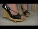 Crush crawdad wedge sandals
