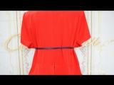Платье Горох Арт 3576 С баской и красным пиджаком (48-62) 2630р СОНЛАЙН Интернет-магазин