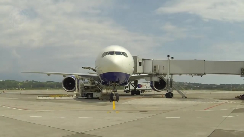 Таймлапс Аэропорт Сочи_Sochi Airport timelapse