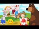 5 САМЫХ ДОБРЫХ СКАЗОК Колобок Заюшкина Избушка Маша и Медведь Три Поросенка Вершки Корешки