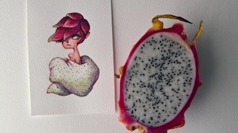 Овощи и фрукты превратились в мультгероев