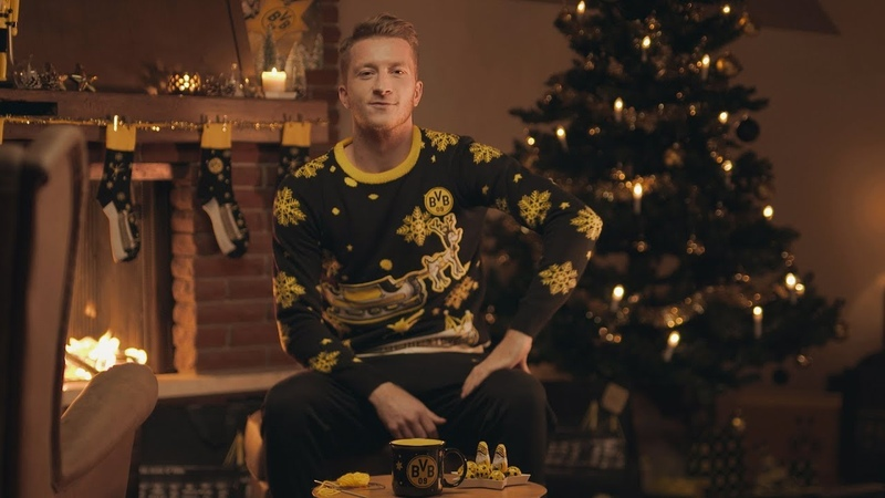 Marco Reus knits the new BVB Christmas sweater!