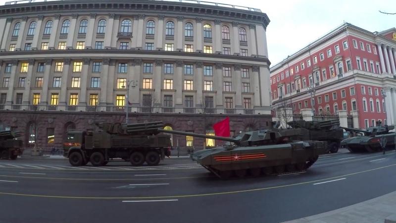 Репетиция Парада Победы в Москве. 26.04.2018
