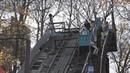 UTV В Уфе круглый год лыжники занимаются прыжками с трамплина