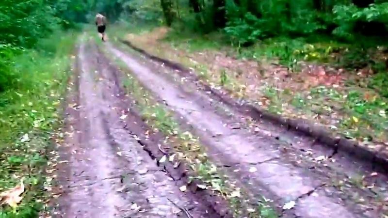 УАЗ Отрывает колесо в лесу