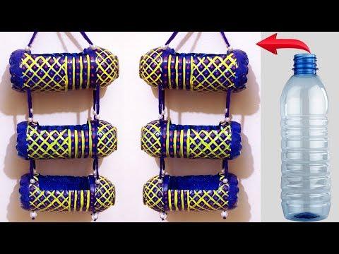 DIY Plastic Bottle Organizer - Useful ways to reuse plastic bottles - Best Out of Waste