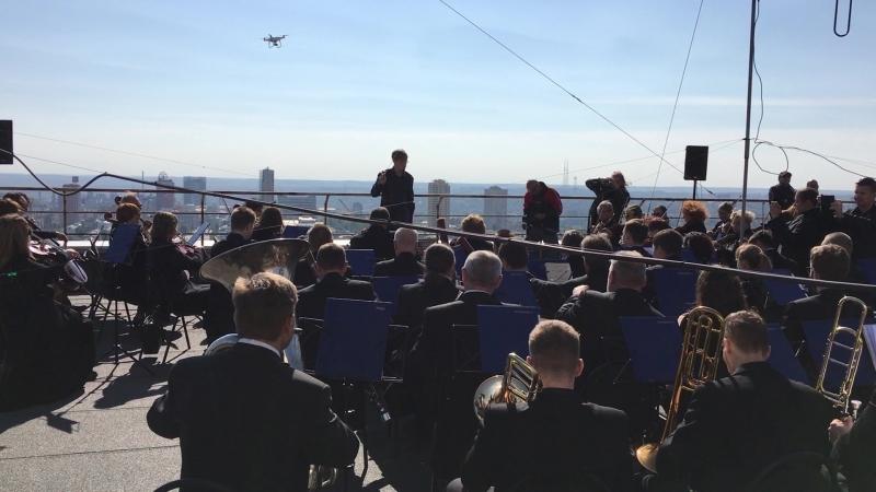 Музыка над Донбассом. Празднование 85-летнего юбилея Академического оркестра имени Прокофьева на крыше самого высокого здания До