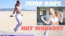 Быстрая, 5-минутная жиросжигающая тренировка ВИИТ. 5 Minute QUICK FAT BURNING HIIT | Jumprope Workout