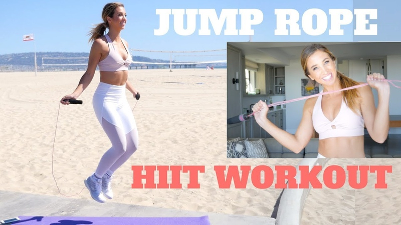 Быстрая, 5-минутная жиросжигающая тренировка ВИИТ. 5 Minute QUICK FAT BURNING HIIT   Jumprope Workout