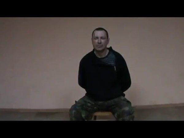 Пленный рашист (рецидивист из Омска) дает показания о подготовке в лагере в Ростове