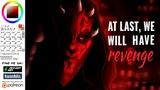 Sai SPEEDPAINT Darth Maul and Sidious Star Wars