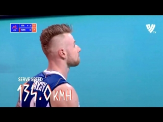 Ivan Zaytsev Serve 134 Km/h! New World Record. Volleyball National League.