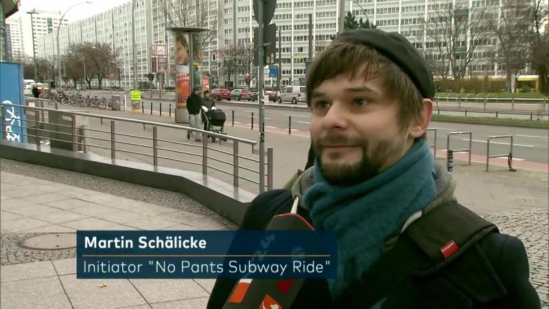 No Pants Subway Ride- Beinkleid ade - ohne Hosen U-Bahn fahren