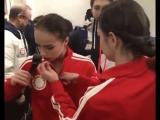 Алина Загитова и Евгения Медведева - 12.02.18, командные соревнования, Олимпийские игры 2018