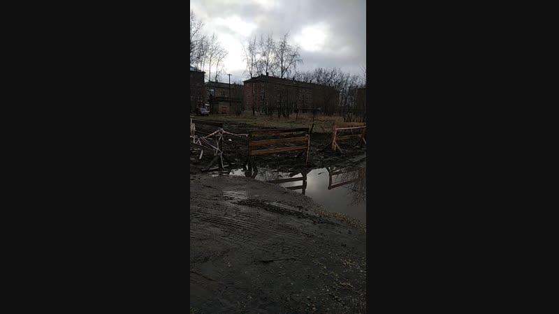 Беспросветная грязь в центре МИКУНЯ Республика Коми