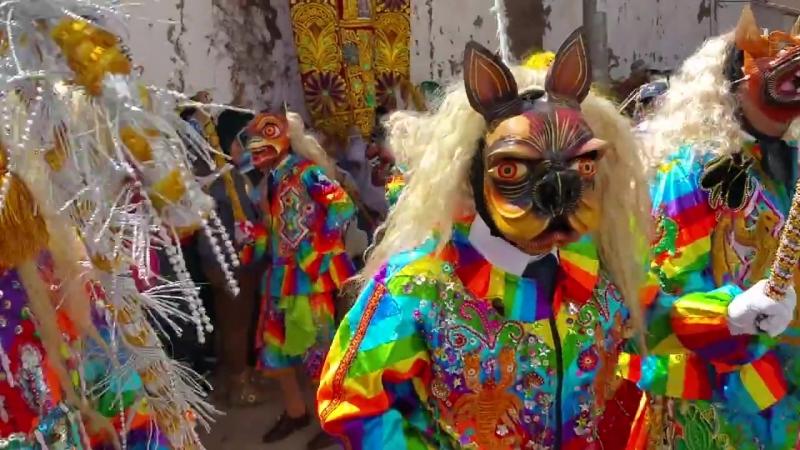 Fiesta de la Vírgen del Carmen en Pisac Cusco Perú