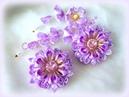 Мк нескучного цветка канзаши из 4 разных видов лепестков .