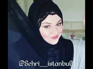 нарядный готовый хиджаб