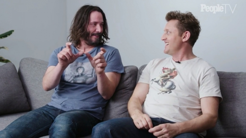 Keanu Reeves and Alex Winter. Bill Teds Excellent Adventure 2018