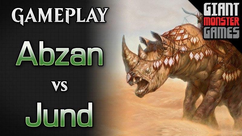 Budget Abzan Midrange -vs- Jund - MTGO Gameplay 01