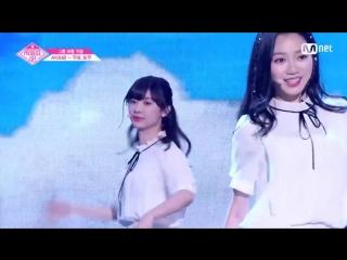 PRODUCE 48 1:1 eye contact | Муто Тому (AKB48) - Gfriend Love Whisper Team 1 group battle