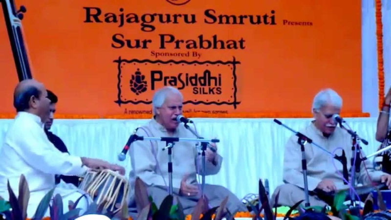 Pt.Rajan Mishra and Pt.Sajan Mishra-raag bhatiyar-dhruth and tarana