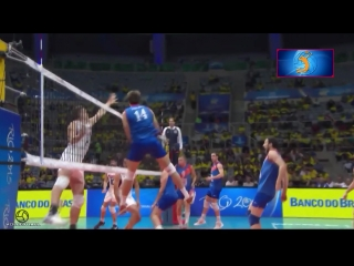 Super volleyball attack 3rd meter. Fantastic spikes.