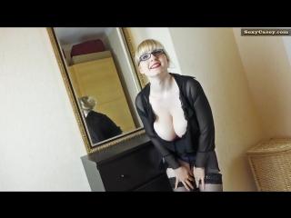 Saggy boobs and a blonde bush
