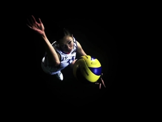 Ekaterina gamova -- the best volleyball player of all time -- 2.02m tall