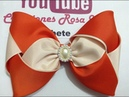 Moño de triángulos combinado VIDEO No.628 Creaciones Rosa Isela
