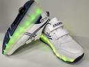 Кроссовки светящиеся Fashion бело-синние с роликом