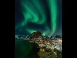 Фантастика ночного неба в Норвегии