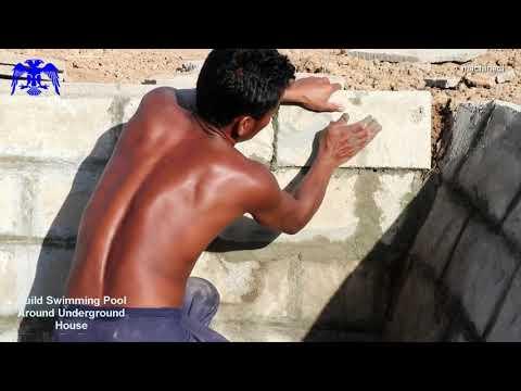 Build Swimming Pool Around Underground House Yeraltı Evi Etrafında Yüzme Havuzu