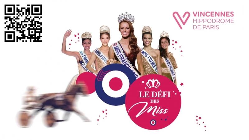 Автограв и фото сессия Miss в день Prix de France на ипподроме Paris-Vincennes