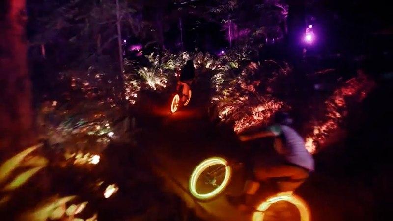 ЗАХВАТЫВАЮЩИЙ СПУСК С ОСВЕЩЕНИЕМ В НОЧИ | DOWNHILL DARKLIGHT power led light in the dark