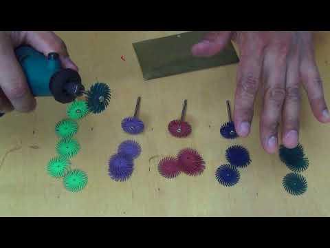 Лепестковые шлифовальные щеточки для дремеля
