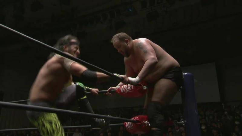 Dalton Castle (c) vs. Beretta vs. Beer City Bruiser (NJPW - HONOR RISING JAPAN 2018 - Day 2)