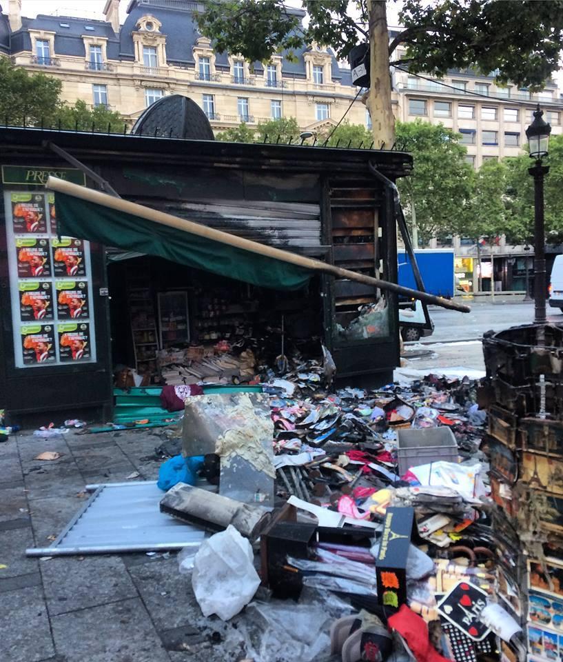 Цивилизованный Париж после победы своей африканской сборной