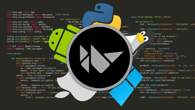 Python = Kivy 3 Функциональный бот-парсер