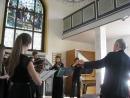 Играет камерный оркестр из Берлина в Зальцбуржской кирхе. Еврейский танец. Дирижер Еханнес Фонроберт.