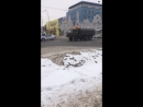 Колонна машин в Кемерово