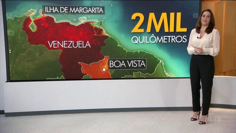 Bom Dia Brasil Número de turistas brasileiros cresce na Venezuela apesar de crise
