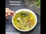 Постный гречневый суп с галушками